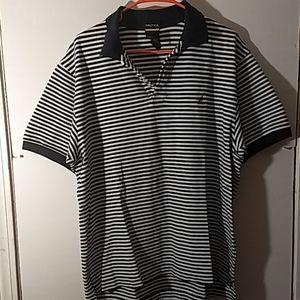 Nautica Short Sleeve Polo Shirt SZ XL